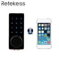 Office Smart Bluetooth Touch Screen Door Lock Digital Password Keypad Door Lock With Smartphone App For Hotel Apartment F1401A
