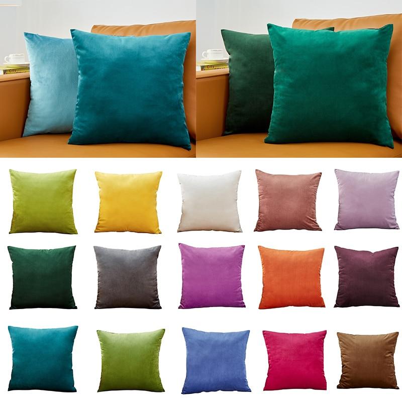 Cushion Cover Velvet Decoration Pillows For Sofa Living Room Car Housse De Coussin 45*45 Decorative Pillows Nordic Home Decor