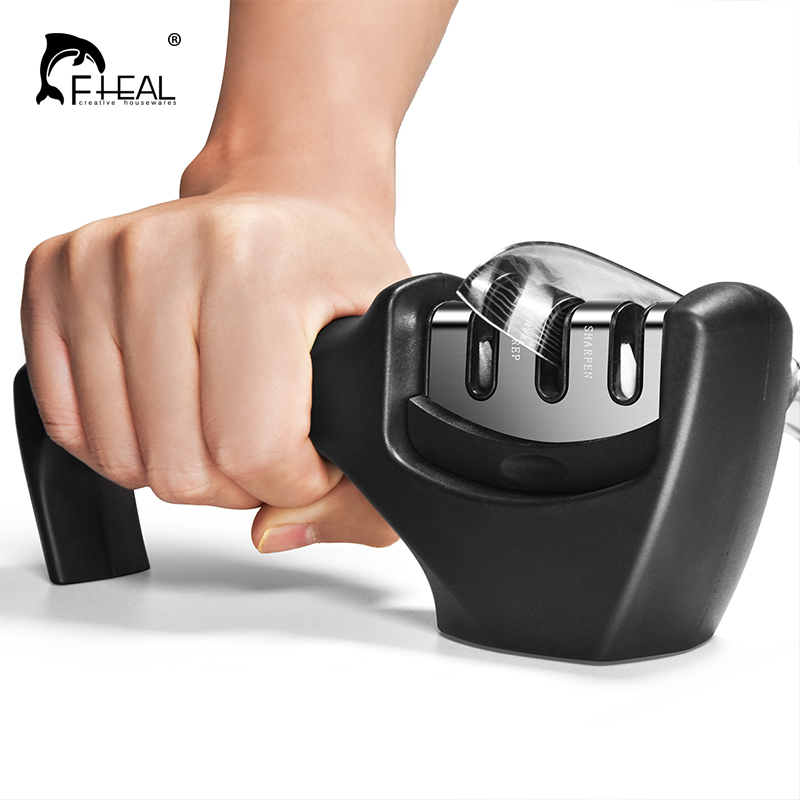 FHEAL Knife Sharpener Knives-Accessories Ceramic Kitchen Professional Tungsten-Steel title=