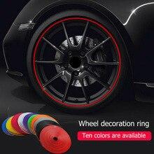 цена на 8M 10 Color Car Vehicle Wheel Rims Protectors Decor Strip Roll Styling IPA Rimblades Tire Guard Line Rubber Moulding Trim