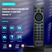 G20BTS Plus-mando a distancia inalámbrico para caja Android TV, 2021G, BT5.0, retroiluminado, ratón de aire de voz inteligente, giroscopio, aprendizaje IR, novedad de 2,4