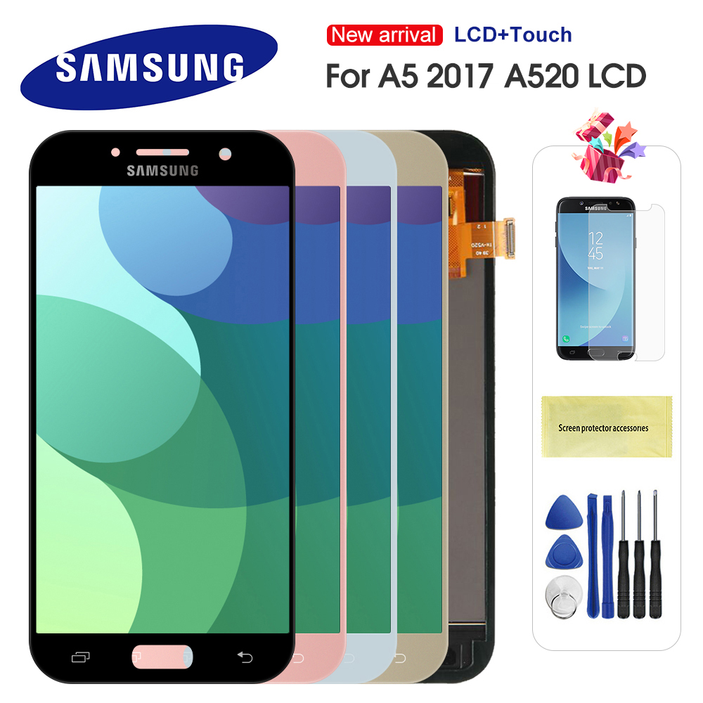 LCD For Samsung Galaxy A5 2017 LCD A520 SM-A520F LCD Display Touch Screen Digitizer Assembly For A5 A520 LCD Screen