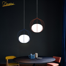 Nordic LED Glass Pendant Lamp Lighting Modern Pendant Lights Attic Living Room Dining Interior Design Deco Hanging Lamp Fixtures new nordic led pendant lights lamp crystal metal pendant lamp modern lighting fixtures for dining room living room bar art deco