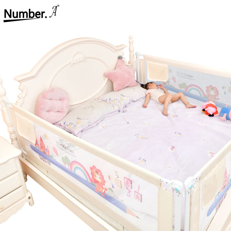 Baby Playground On Bed Fence Rail Safe Playpen Bed Guardrail Barrier Rail Foldable Home Kids Security Barrier Crib Care Fencing