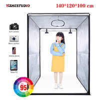 140*120*100 см Светодиодная профессиональная портативная студийная Мягкая коробка, светодиодная палатка для фото-и видеосъемки, чехол на тележк...
