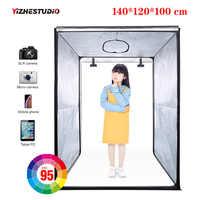 140*120*100 cm LED profesional portátil estudio softbox LED estudio fotográfico Video iluminación tienda para carro funda ropa para niños