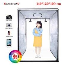 Caja de luz LED portátil para estudio profesional 140x120x100 cm tienda de iluminación de vídeo para estudio fotográfico LED para cubierta de carrito, ropa para niños