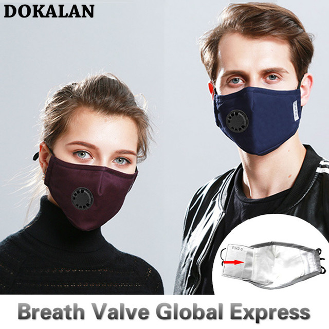 2020 Face Mouth Mask PM2.5 Breath Valve Маска Mascherine Masque Mouth Maska Five Floors Mascherine Protective Dust Filter 3