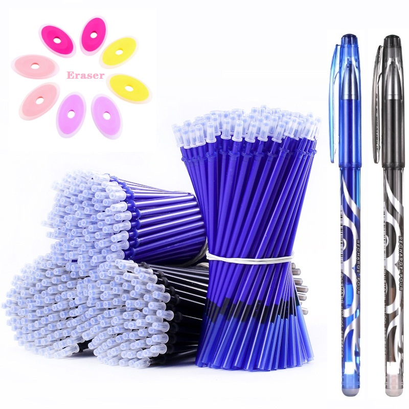 Erasable Pen Set Washable Handle Black Blue Ink Writing Gel Pen Rollerball Pens For School Office Stationery Supplies 04166(China)
