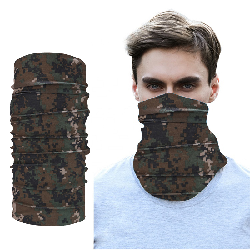 S-TROUBLE Unisex Camouflage Print Cotton Bandanas Military Tactical Headwrap Outdoor Jungle Wristband Sports Cycling Square Scarf Headwear