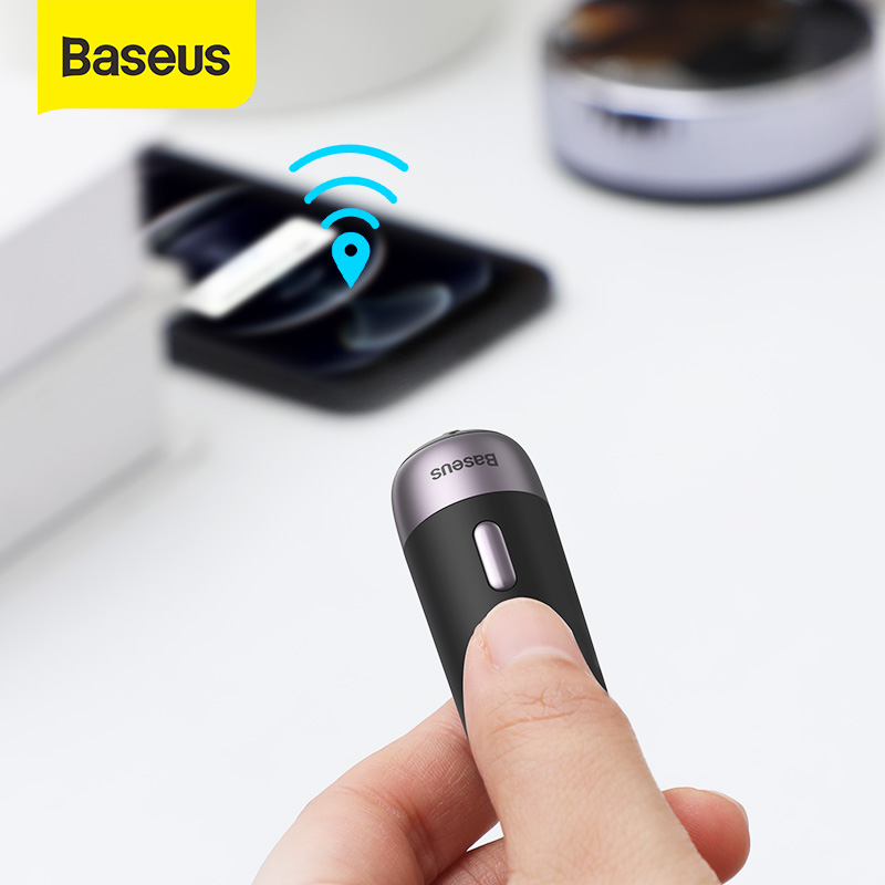 Baseus 2 шт. интеллигентая (ый) Перезаряжаемые анти-потерянный трекер Беспроводной смарт-трекер Key Finder ребенок сумка Кошелек Finder тега сигнализации