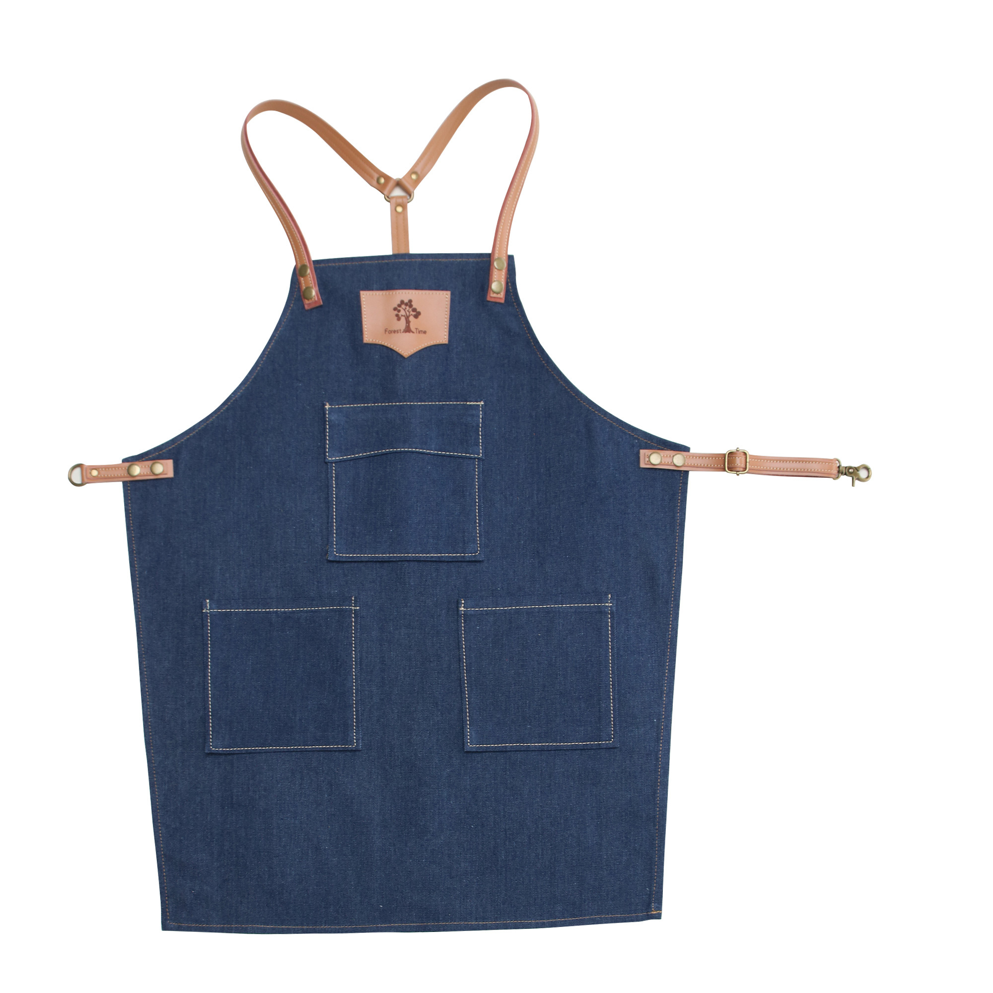 New Cowboy Bibs Aprons for Women Leather BBQ Chef Home Kitchen Dress Barber Hairdres Cafe Cook Waiter Custom logo Pinafore Gift|Aprons| |  - title=