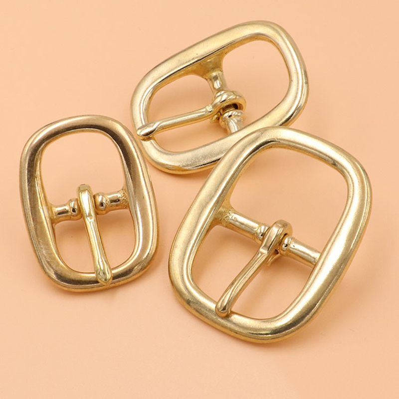 Brass Tri Glide Belt Buckle Middle Center Bar Buckle Single Pin Oval for Leather Craft Bag Strap Horse Bridle Halter Harness in Buckles Hooks from Home Garden