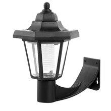Luz Led de paisaje exterior Hexagonal ahorro de energía valla de jardín patio Solar Powered Spotlight Park Vintage lámpara de pared