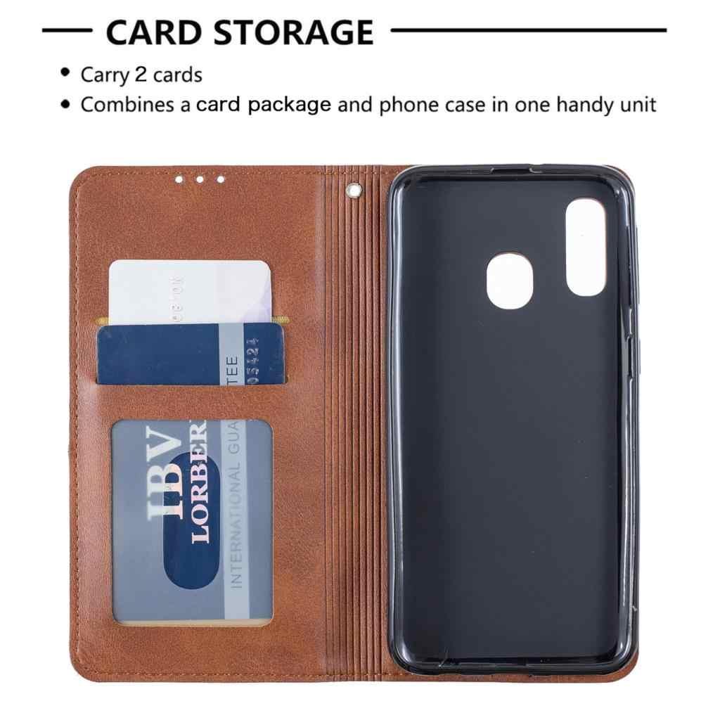 Portefeuille en cuir PU rabat téléphone sac pour étui Samsung A40 étui pour téléphone accessoire sFor étui Samsung Galaxy telefoon A40 étuis