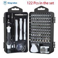 Juego de destornilladores profesionales para iphone, herramienta multifuncional de brocas magnéticas, Mini caja de herramientas de mano para reparación, 122 Uds.