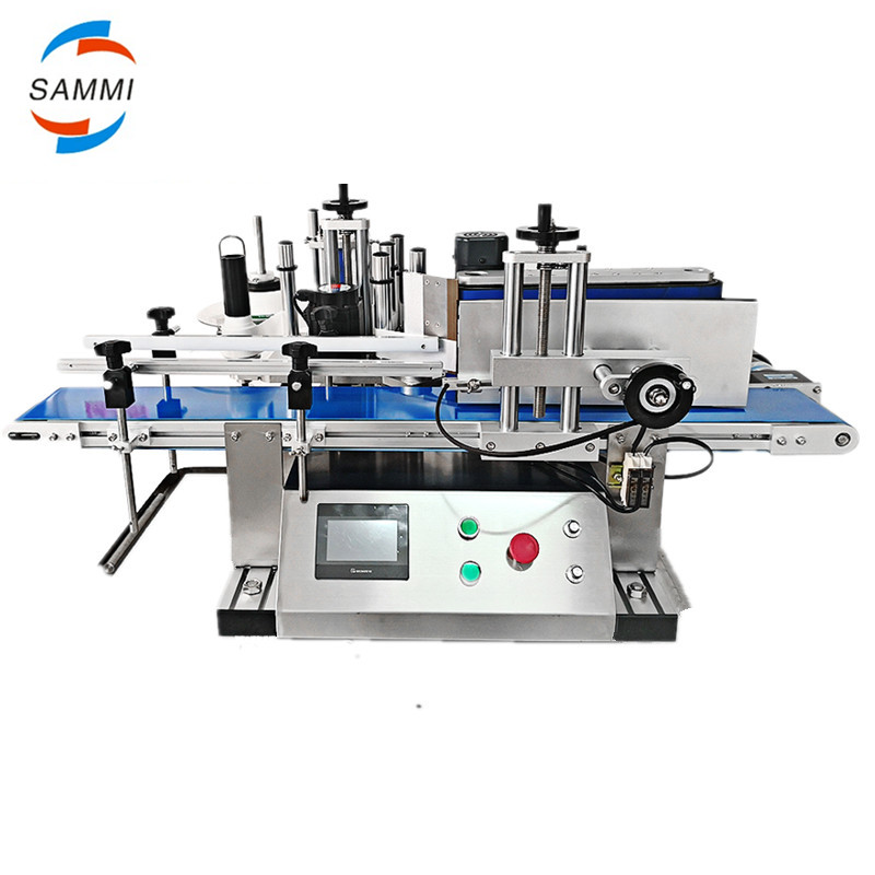 High speed tabletop automatic bottle labeling machine with high roller