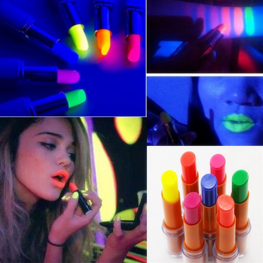 Luminous Glow Lipstick Lip Stick Fluorescence In Dark  Nightclubs Performance Party Makeup Rave Led Party Favors Carnival Gift