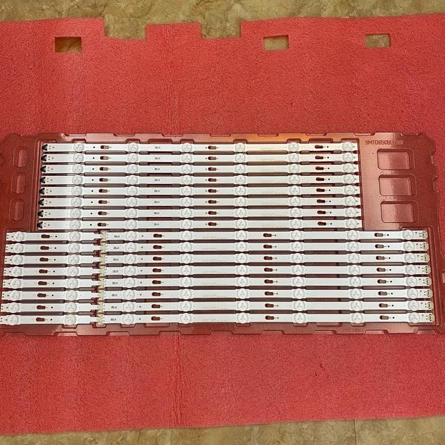 LED רצועת תאורה אחורית (16) עבור Samsung UE65JU6500 UE65KU6020K UE65MU6120 UE65KU6000 UE65MU6105 UE65KU6095 UE65MU6172U UE65JU7590T UN65MU6100 UE65MU6120 UE65KU6300 UE65JU6400 BN96 34808A