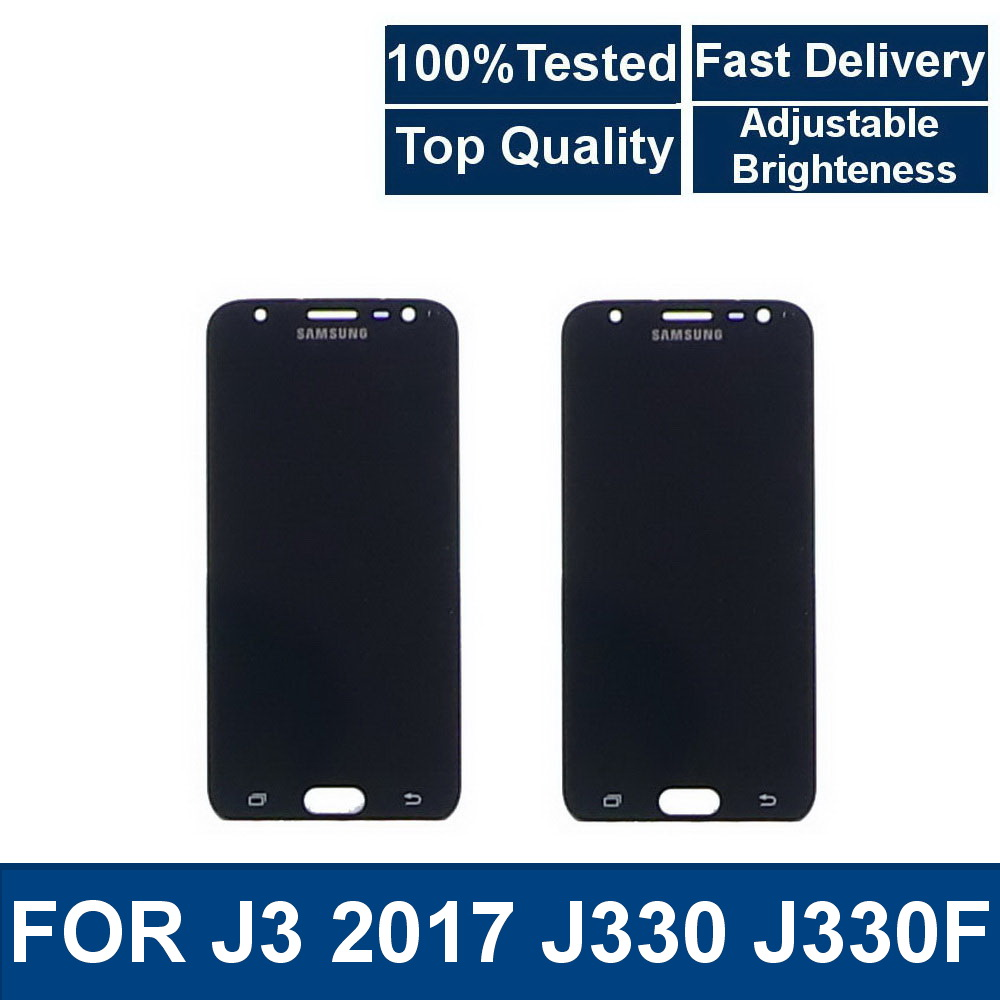 For Samsung Galaxy J3 2017 J330 J330F Phone LCD Display Touch Screen Digitizer Assembly Replacement With brightness adjustment