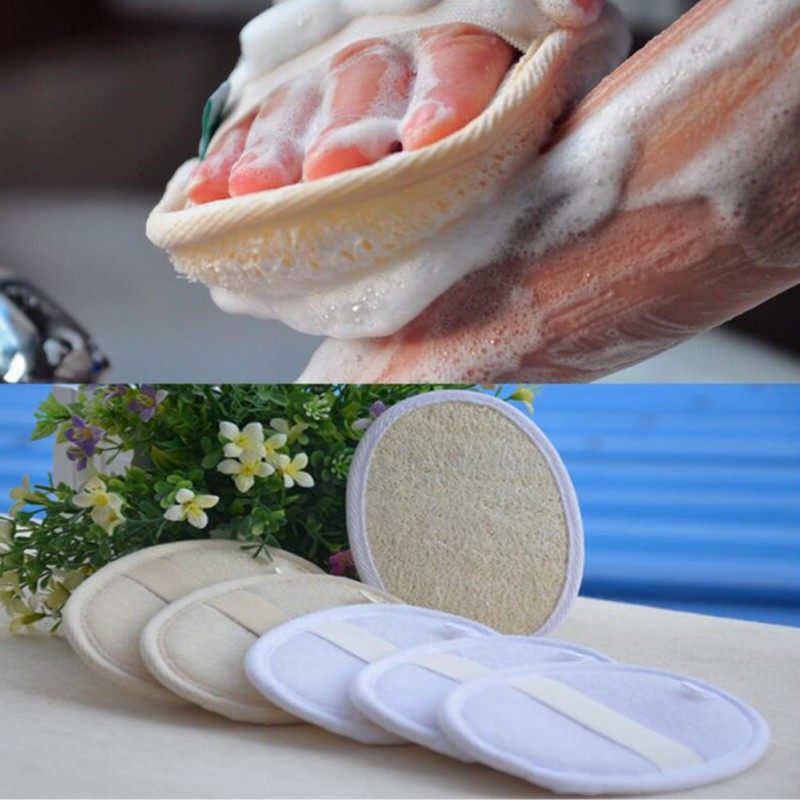 Exfoliating Loofah Pad 100% Natural Loofah Sponge Scrubber Brush For Men And Women