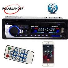 Polarlander Авто Радио Bluetooth handfree AUX-IN FM USB SD 1 Din дистанционное управление 12 в аудио стерео MP3 плеер в тире