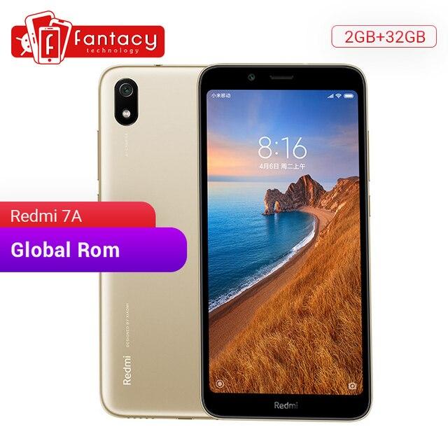 """במלאי הגלובלי ROM Xiaomi Redmi 7A 7 A 2GB 32GB 5.45 """"HD Snapdargon 439 אוקטה core טלפון נייד 4000mAh 13MP מצלמה Smartphone"""