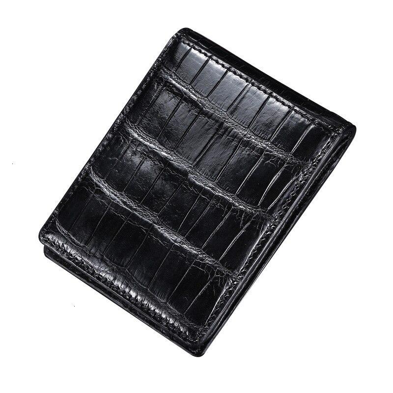 Crocodile de luxe bidon en cuir ID tarjetero RFID serrure mâle marchand petit sac carte de crédit porte-carte passeport couverture livraison gratuite