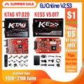 2020 Онлайн Красный V2.53 KESS V5.017 V2 KTAG V7.020 V2.25 4LED No Token OBD2 Manager K-TAG 7 020 KESS V2 ECU Upgrade Programmer