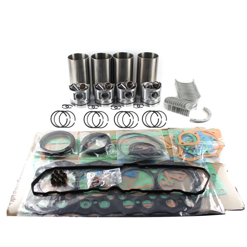 A2300 revisão do motor reconstruir kit para cummins daewoo doosan empilhadeira pistões forros conjuntos de rolamento kit reparação do motor junta