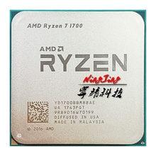 Processador amd ryzen 7 1700 r7 1700 3.0 ghz, cpu de oito núcleos com soquete de 65w am4