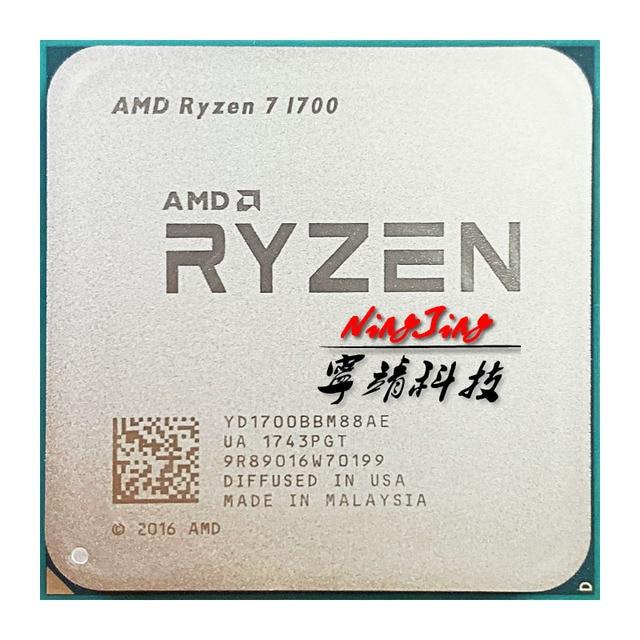 Процессор AMD Ryzen 7 1700 R7 1700 3,0 ГГц, Восьмиядерный процессор с 16 потоками, 65 Вт, YD1700BBM88AE Socket AM4