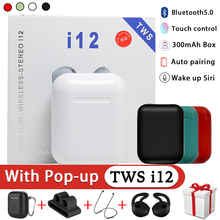 i12 TWS Original True Wireless Bluetooth Earphones Sport Earbuds With Earphone Accessories For i9s i10