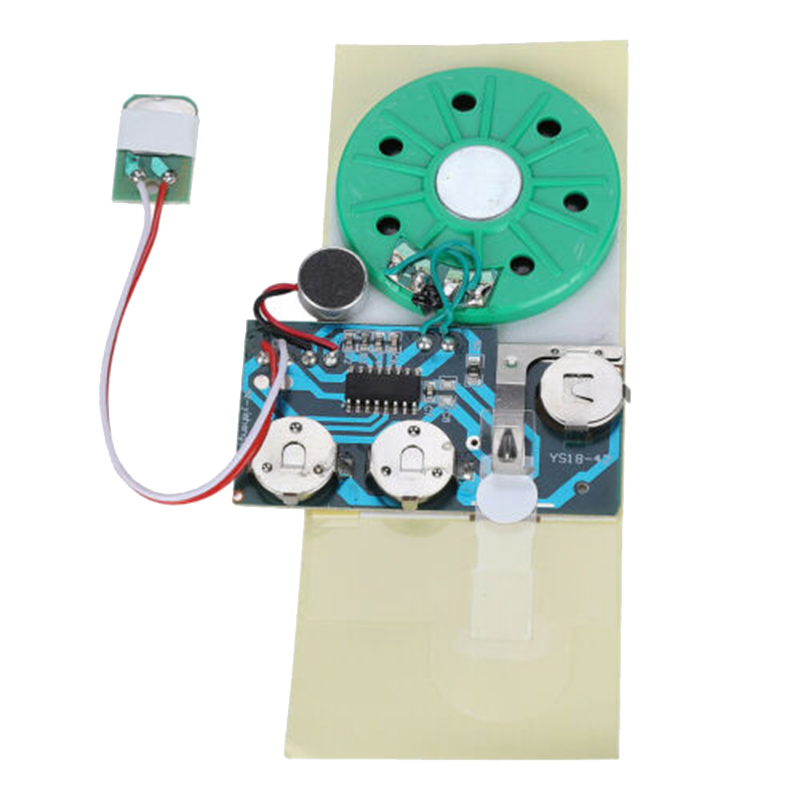 1Piece Recordable Voice Module For DIY Homemade Greeting Cards Gift Boxes Invitations Music Sound Talk Chip Musical Tool