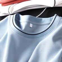 JSBD2021 Summer Colour Collar Short Sleeve T-Shirt Comfortable breathable cotton fabric versatile round collar short sleeve T-sh