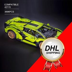 LepinBlocks 20001 Супер гоночный автомобиль модель совместимая техника 42056 строительные блоки кирпичи автомобиль Развивающие игрушки подарки на д...