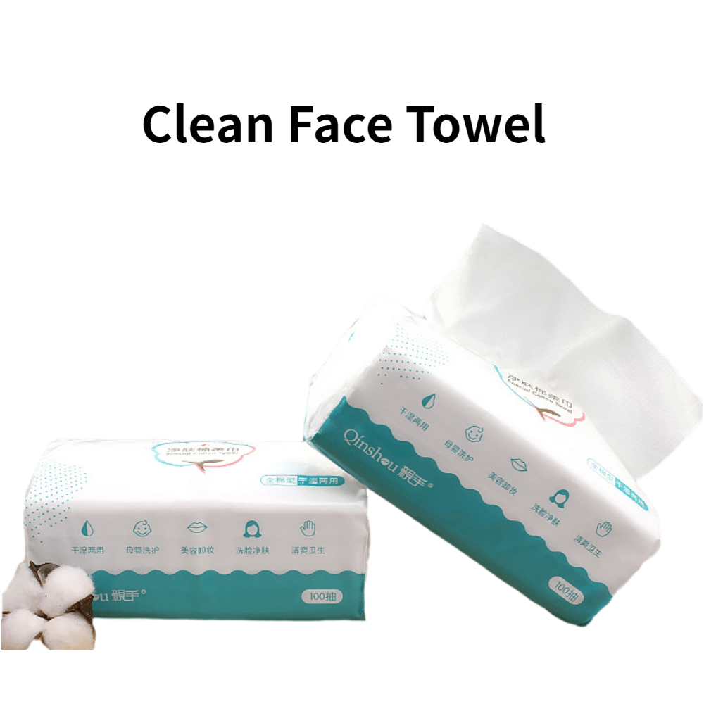 Face Clean Non-woven Cotton Disposable Cosmetics Towel Paper 100Pcs Makeup Wipes Antiseptic Cleanser Cleaning Face Towel 100Pcs