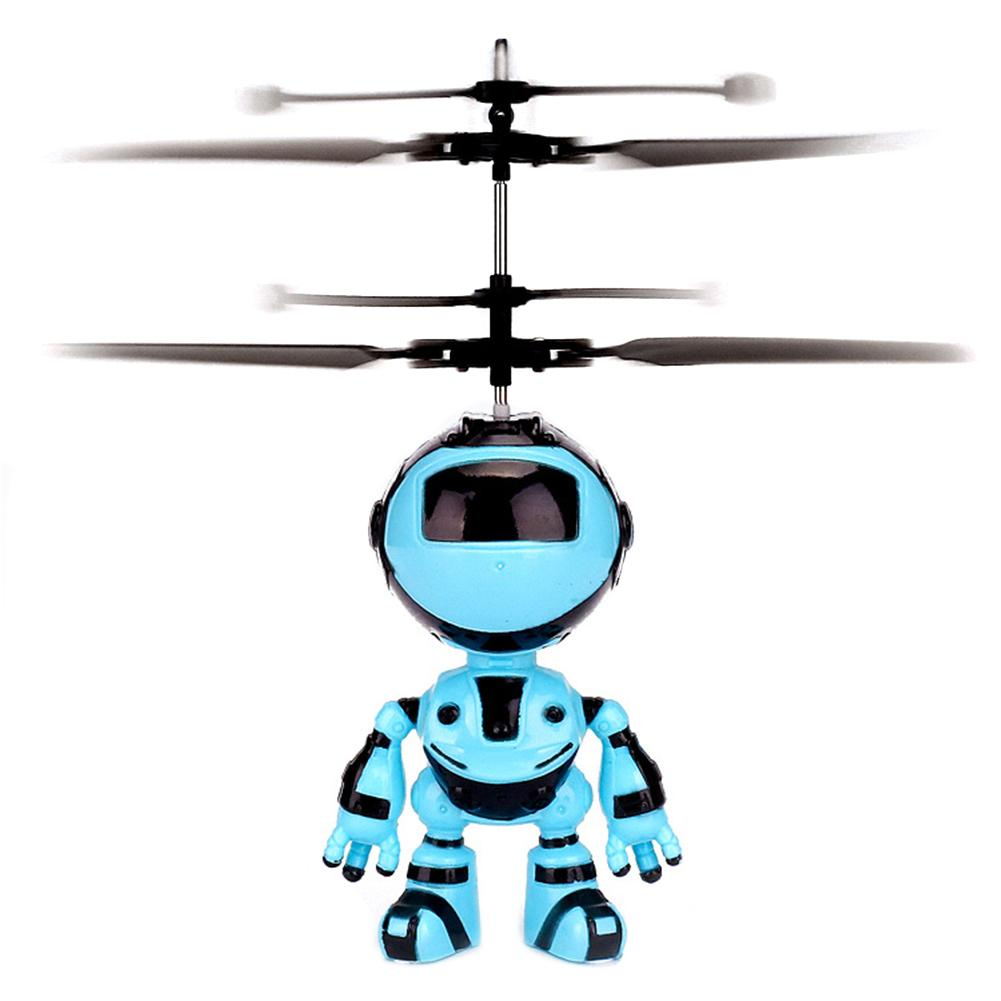 Electronic Aircraft Suspension Hand Sensing Obstacle Flying Robot Kids Toy Gift New