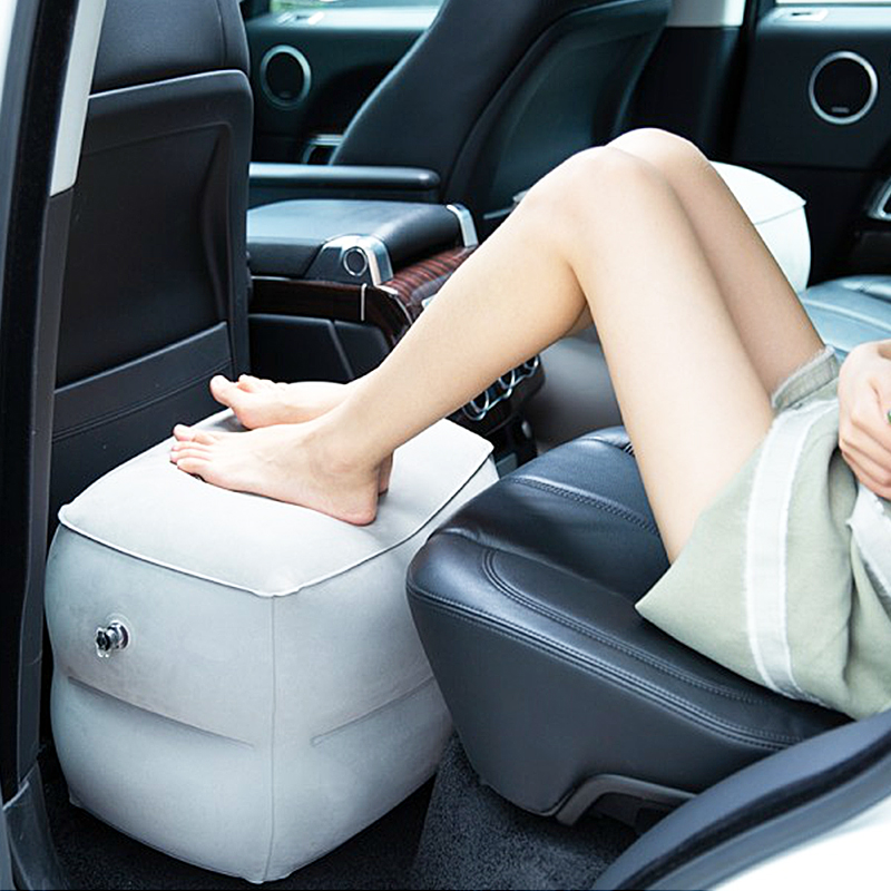 Foldable Inflatable Footrest Leg Foot Travel Supporter Rest Trip Accessories Pillow Portable Air Pad Kids Bed Cushion Supplies