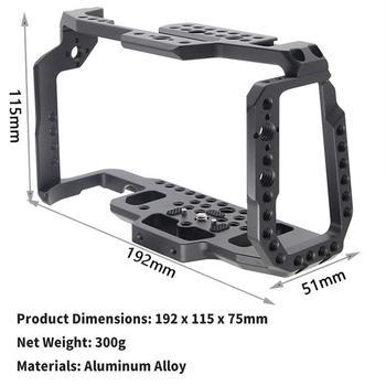Aluminum BMPCC 4K 6K DSLR Camera Fitting Cage For  Blackmagic Pocket Cinema Camera BMPCC 4K 6K with Rail Cold Shoe Mount