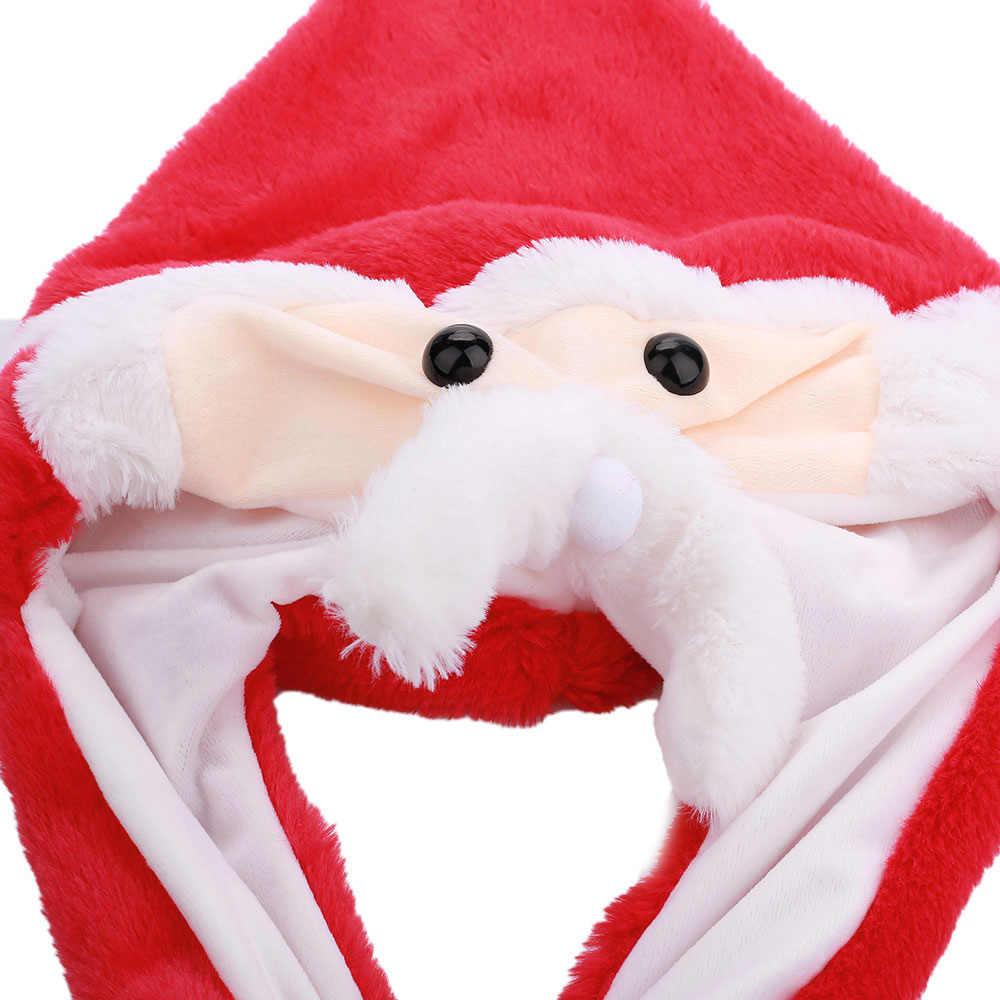 חג המולד כובע חמוד נע חג המולד סנטה קלאוס קמצוץ הכפה תהיה ריקוד קטיפה פלאש כובע כובע רך ממולא 2019 חורף תינוק צעצועים