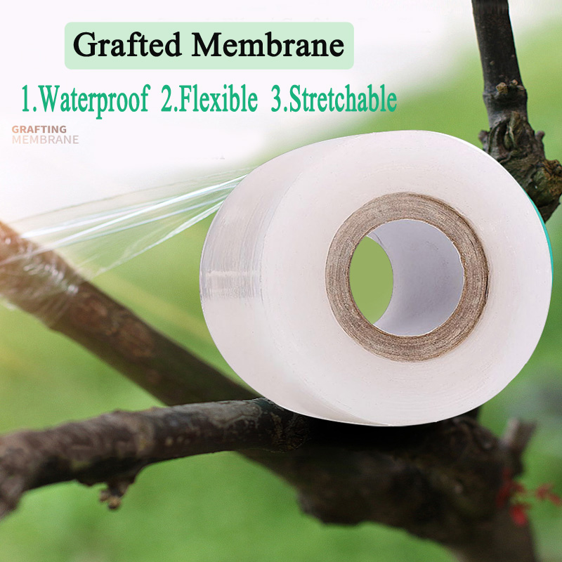 2CM X 100M / 1 Roll Grafting Film Tape Garden Tools Fruit Tree Secateurs Engraft Branch Gardening Bind Belt PVC Tie Tape