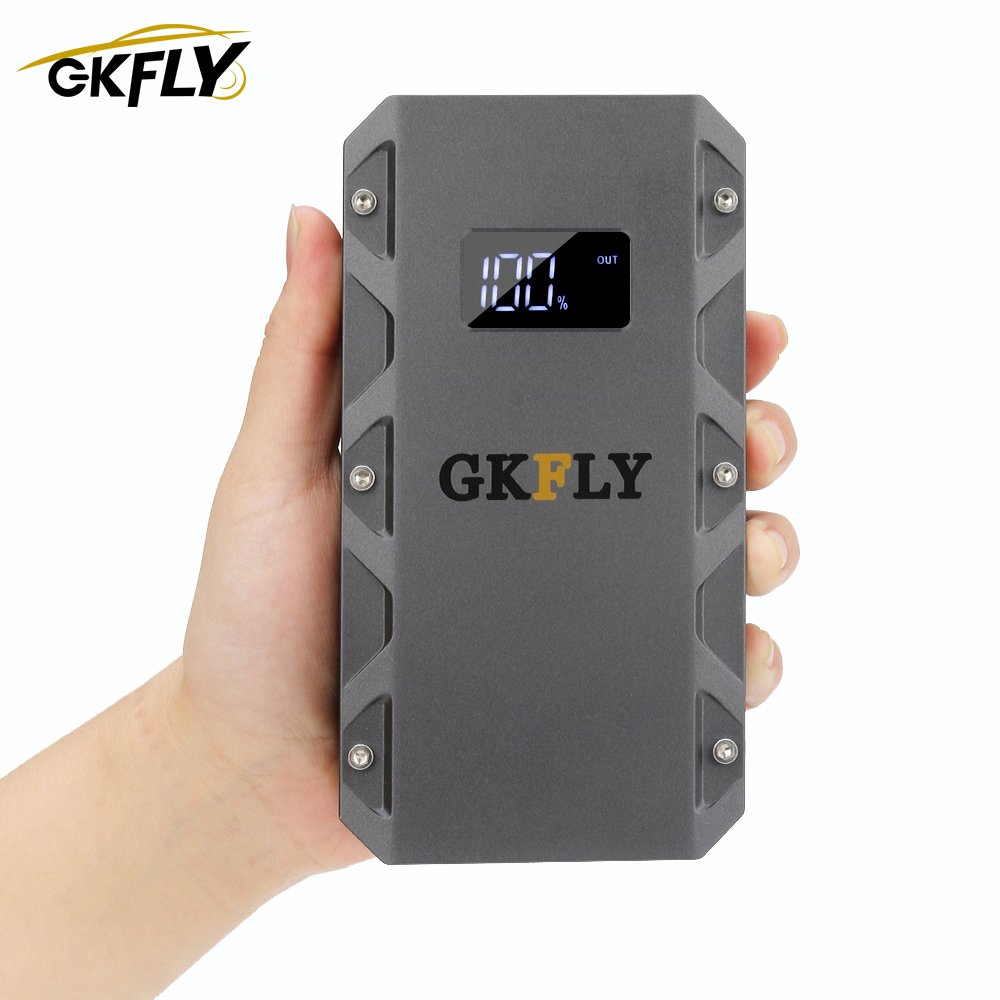 GKFLY High Capacity 1500A Starting Device 20000mAh <font><b>12V</b></font> Car Jump Starter <font><b>Power</b></font> <font><b>Bank</b></font> Petrol Diesel Car Charger For Car Battery LED image