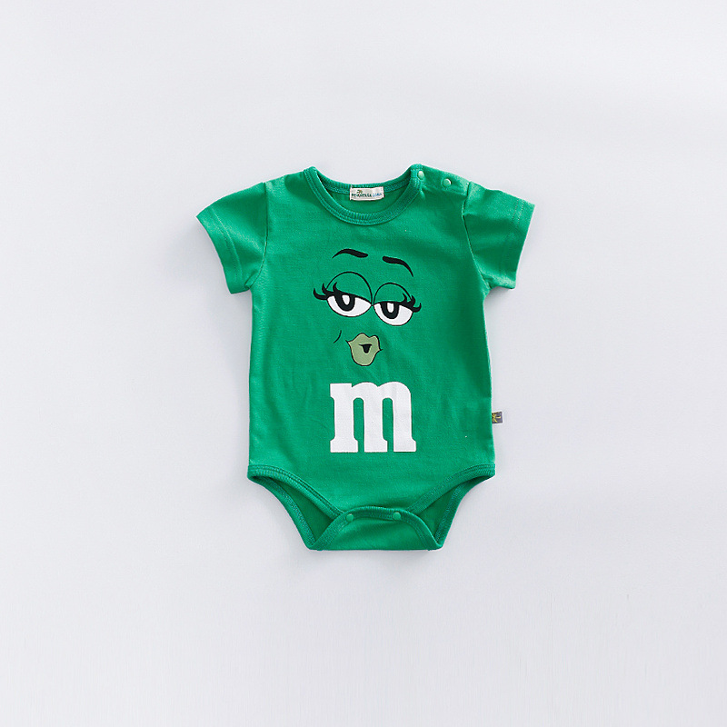 2020 Infant Clothes NewBorn Baby Rompers Letter M Clothing Costumes Cartoon Funny Face Printing Kids Jumpsuit Boys Clothes | Happy Baby Mama