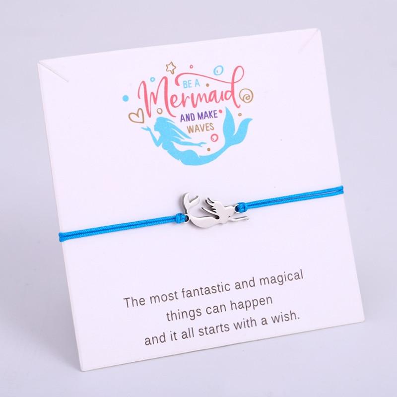 Mermaid Ocean Sea Turtle Tortoise Fish Stainless Steel Charm Bracelets Women Unisex Adjustable Jewelry Gift Drop Shipping