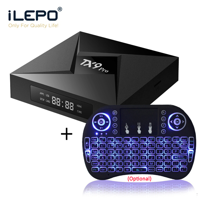 iLEPO TX9 PRO Android 7.1 Smart TV Box Amlogic S912 Octa Core 3GB 32GB Support 2.4+5.8GHz WiFi 1000M LAN BT4.1 4K H.265(China)