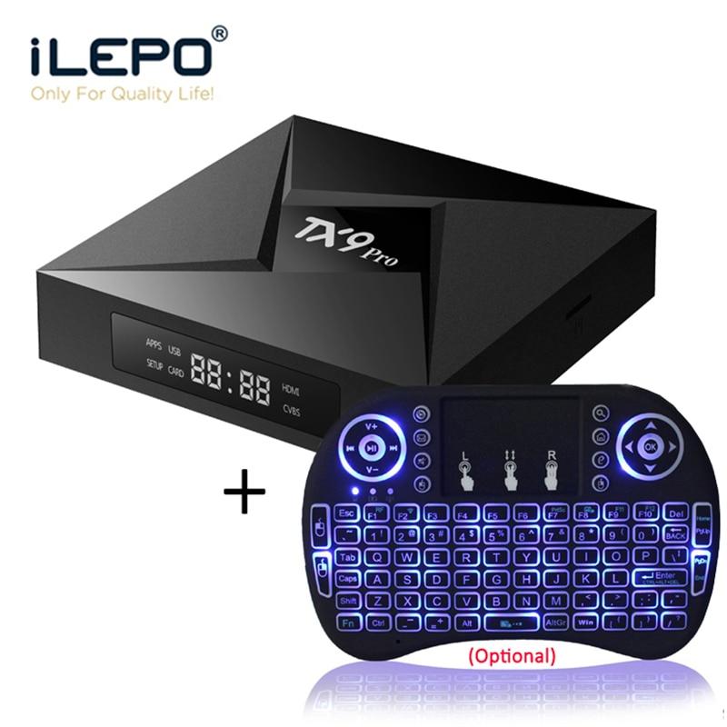 ILEPO TX9 PRO Android 7.1 Smart TV Box Amlogic S912 Octa Core 3GB 32GB Support 2.4+5.8GHz WiFi 1000M LAN BT4.1 4K H.265