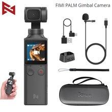 Fimi palma 3 axis handheld cardan estabilizador com 4k câmera inteligente 128 ° grande angular 120g wi fi controle ventosa suporte de extensão