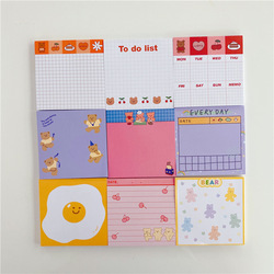 50 Sheets Korea Paper Joy Bear Planner Sticky Notes Kawaii Stationery Cute Memo Pad Notepad Office Leave Message Office Supplies