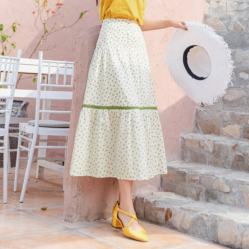INMAN 2020 Summer New Arrival Cotton Literary Prairie Chic Shivering Prue And Fresh Skirt